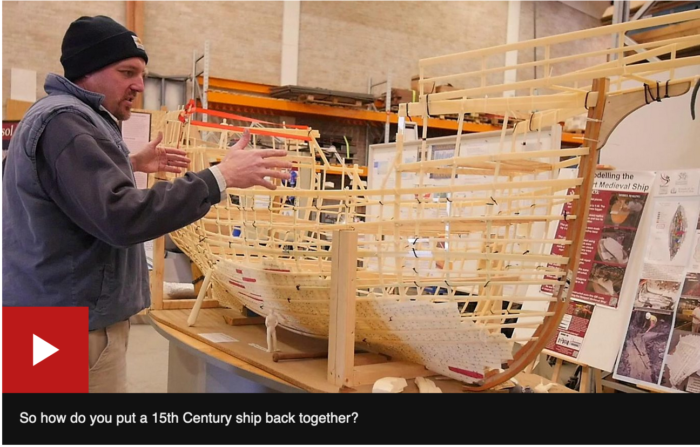 BBC Wales News January 2929 So how do you put a 15th Century ship back together?